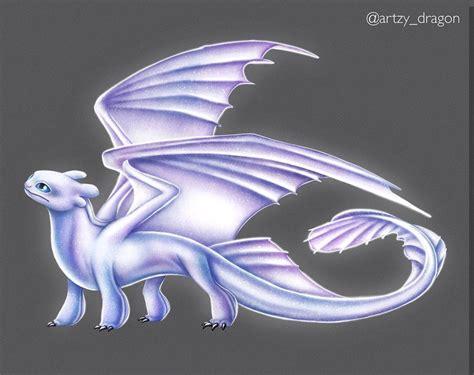 Light Fury The White Night Fury Dragon