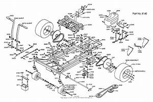 Dixon Ztr 429  1990  Parts Diagram For Chassis Assembly