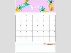 Cute and Crafty Monthly Calendar 2018 Calendar 2018