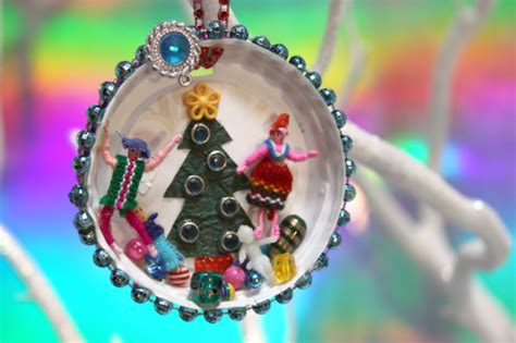 coffee lid christmas ornaments