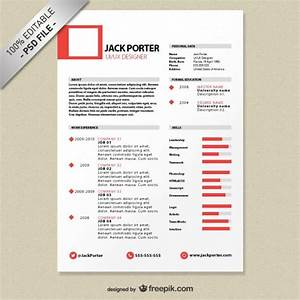 Creative resume template download free psd file free for Creative resume templates free download