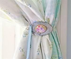 Embrasse Rideau Design : d co embrasse de rideau realisee a partir d 39 une cuilliere style romantique ~ Teatrodelosmanantiales.com Idées de Décoration