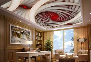 custom 3d ceiling large wall photo Spiral Geometric Art 3d ...