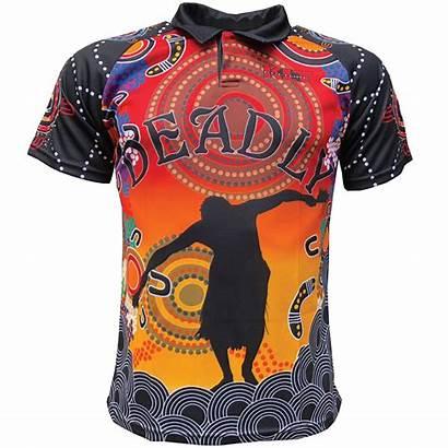 Aboriginal Deadly Australia Dancer Polo Kulture Clothing