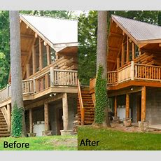 Log Home Staining & Cleaning Services  Log Building