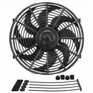 Derale Dp18916 Dyno-cool 16 U0026quot  Curved Blade Electric Thermo Fan 1980cfm Reversable