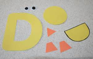letter d duck craft all network