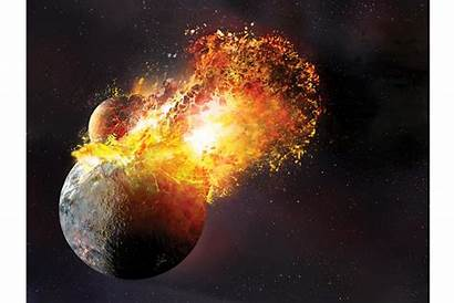 Moon Birth Earth Formation Violent Csmonitor Collision