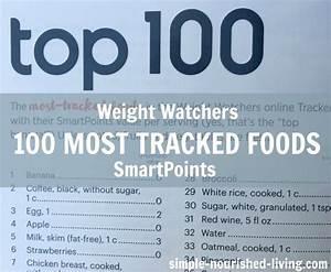 Weight Watchers Smartpoints Berechnen : weight watchers top 100 most tracked foods with smartpoints http simple nourished ~ Themetempest.com Abrechnung