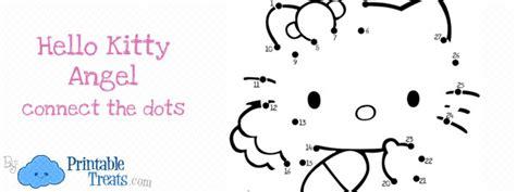 kitty angel connect  dots printable treatscom