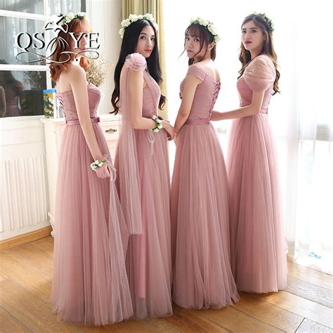 buy wholesale dusty pink bridesmaid dresses