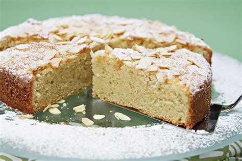 almond cake  ginger whipped cream food style