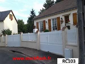 Cloture Pvc En Kit : portail cl ture pvc en kit sur mesure suivant le plan de ~ Melissatoandfro.com Idées de Décoration