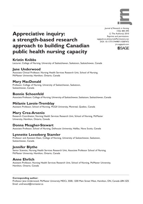 appreciative inquiry  strength based research