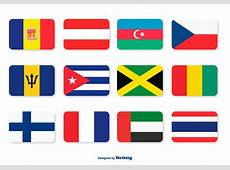 Assorted Flags Icon Set Download Free Vector Art, Stock