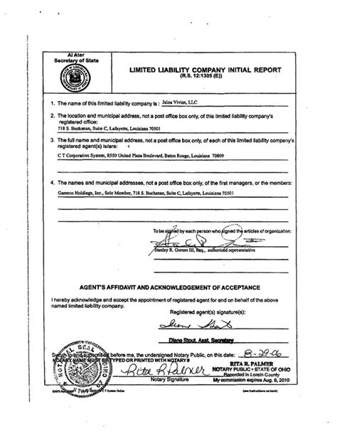 llc articles of organization logo