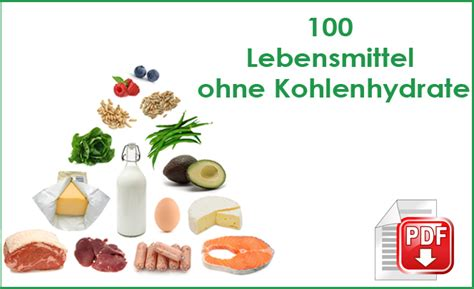 liste lebensmittel ohne kohlenhydrate gesunderezepteme