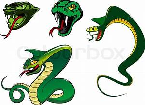 Green cartoon angry snake characters for animal, tattoo ...