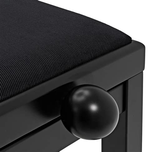 siege pour piano siège piano réglable par gear4music noir mat stock b à