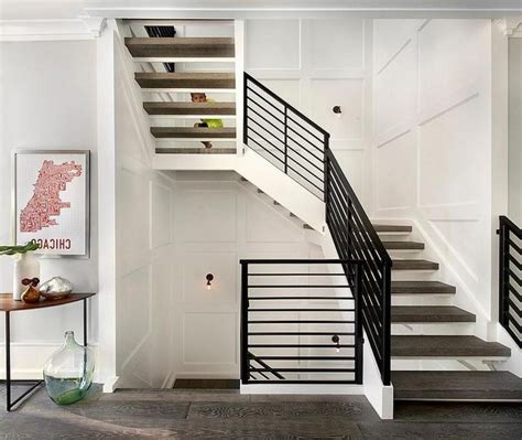 traditional home interior design ideas wood stairs design with metal balustrade the
