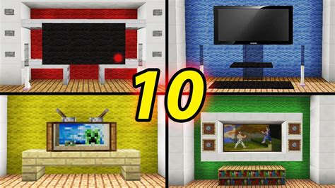 10 Tv Designs To Improve Your House In Minecraft / How To
