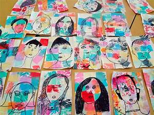 The Talking Walls: Paul Klee Inspired Self Portrait Lesson