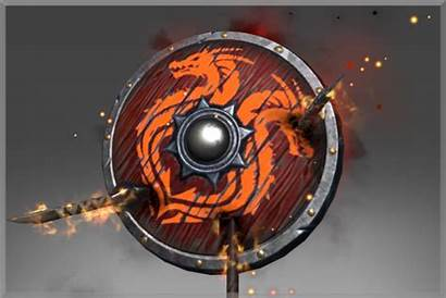 Ravager Outland Burning Shield Knight Dragon Inscribed