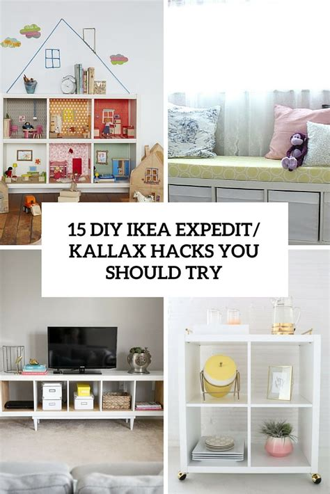 Kallax Ikea Hack by 15 Diy Ikea Kallax Shelves Hacks You Could Attempt