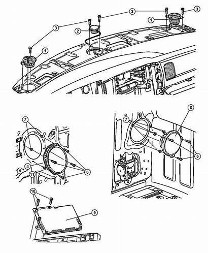 Dodge Speakers Speaker Parts Infinity Instrument Panel
