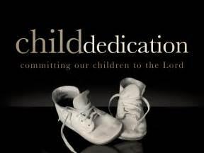 baby dedication  testament temple
