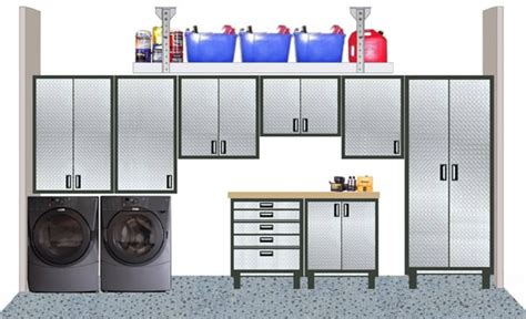 Metal Cabinets Are Striking In The Garage Design Software