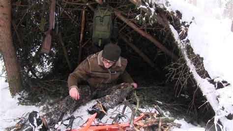 winter shelter camp snow emergency poachers