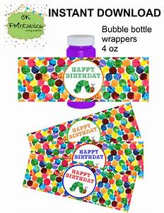 Caterpillar Bubble Bottle Label