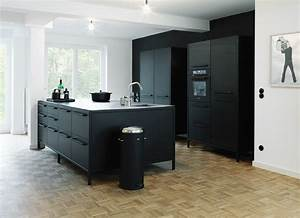 Arbeitsplatte Küche Schwarz : ideen f r eine schwarze k che planungswelten ~ Markanthonyermac.com Haus und Dekorationen