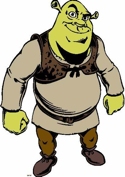 Clipart Shrek Ogre Donkey Fiona Cliparts Cartoon