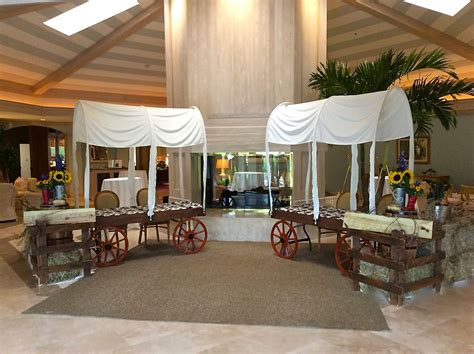 Western Themed Party Decorations Chuck Wagon Check In