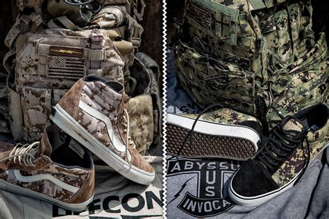 defcon vans syndicate camouflage sneakers shouts