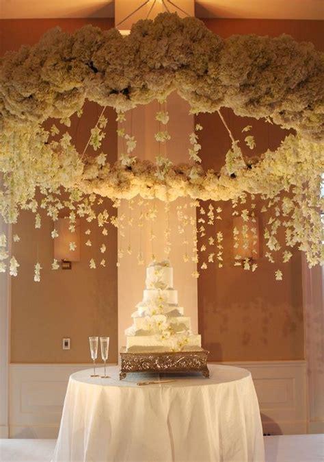 Wedding Decor: Hanging flowers lanterns chandeliers