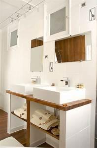 salle de bains en teck pose des vasques bricolage avec With plaque de platre salle de bain