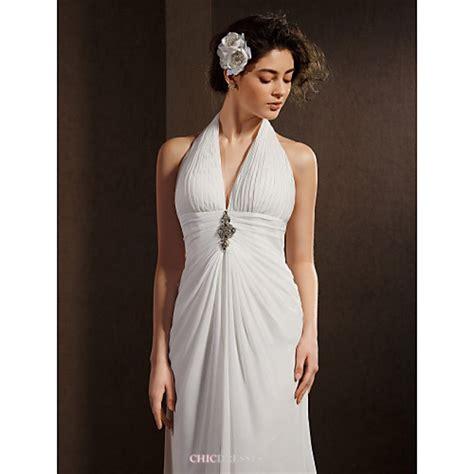 sheathcolumn wedding dress ivory asymmetrical halter