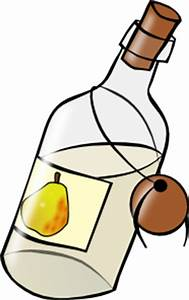 Bottle With Moonshine clip art Free Vector / 4Vector