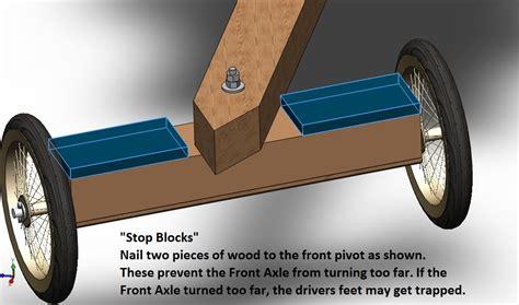wood action ideas build wooden  kart