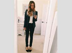 Grey Fitted Women's Suit Business Professional Attire #