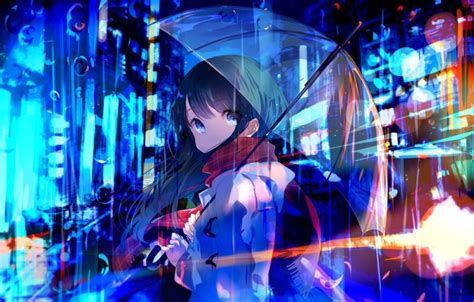 Neon Anime Wallpaper - umbrella anime neon wallpapers hd desktop and
