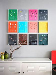 Diy home decor with colorful frame on wall olpos design