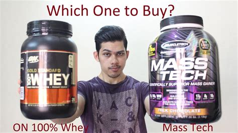 Muscletech Mass Tech Vs ON 100% Whey Gold Standard | Which