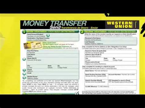 How Send Money With Western Union Youtube