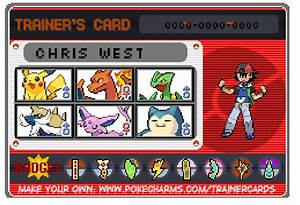 My Pokemon Trainer Card By Senordunut On Deviantart