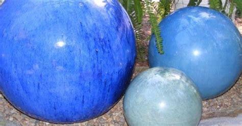 ceramic gazing ballsso   breakable  glass