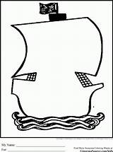 Coloring Pirate Outline Ship Treasure Chest Clipart Pirates Outlines Simple Cliparts Cartoon Template Drawing Theme Para Argh Ships Ginormasource Names sketch template